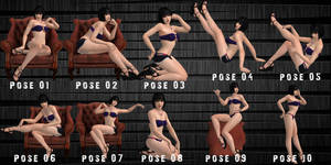PinUp Poses Pack - 01 by KiiraUsunaii by KiiraUsunaii
