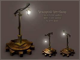 Steampunk Streetlamp Model by Maxidius