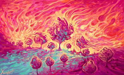 Dancing Sweet Trees by Xanderleonart