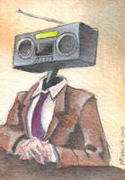 Radiohead ACEO by tencrowns-studio