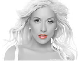 Christina Greyscale by Kristricia