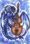Blues Dragon - Art Trade by HannuBananu