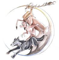 HP- Werewolf team by KuroKato