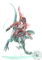 Ridding Raptor 2 by KuroKato