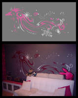 Design wallpainting 'fox' by mooni