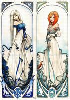 SARAH - MARRY :Art Nouveau: by Doria-Plume