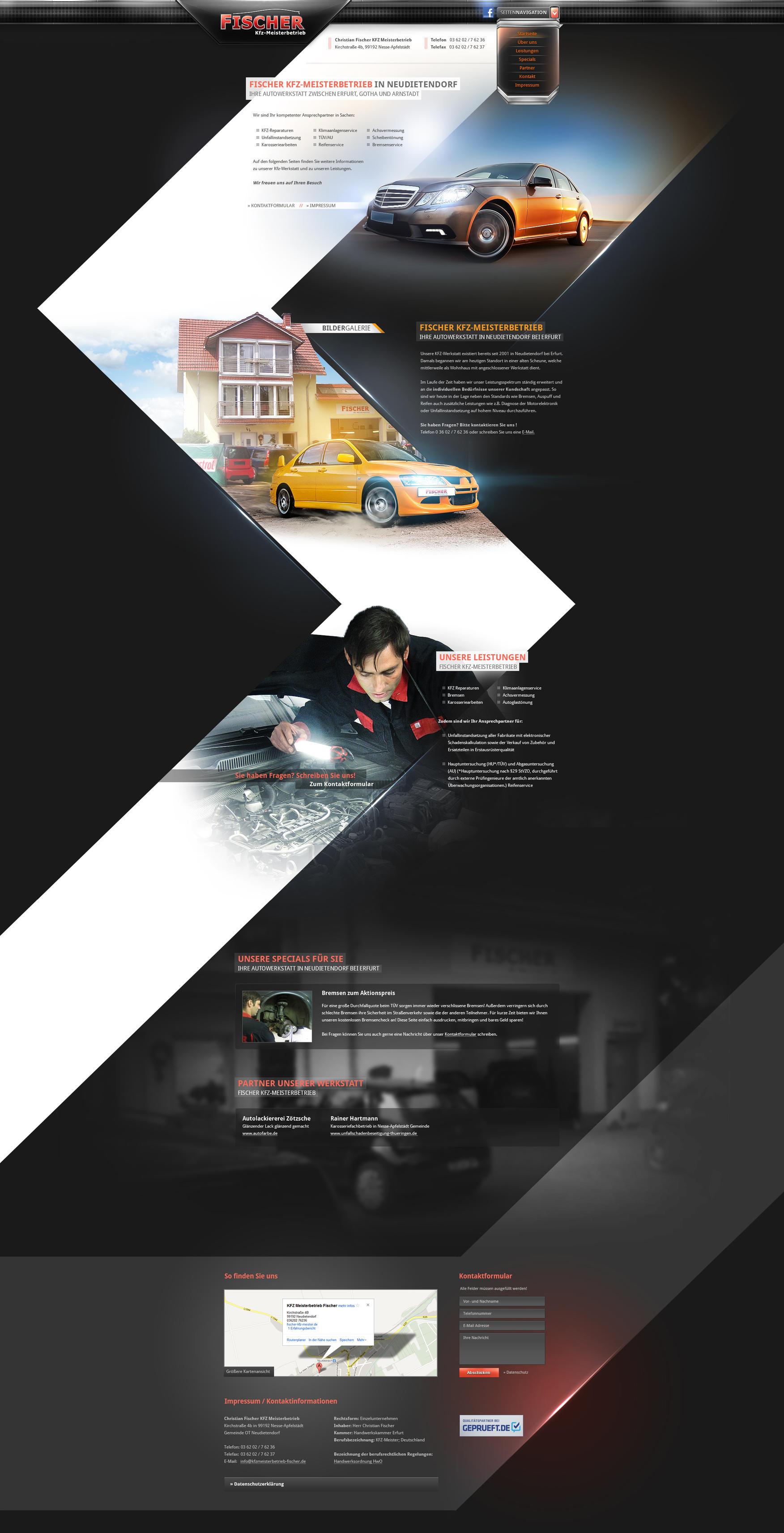 Car Workshop Onepage by Carl06
