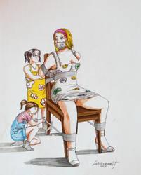 Commission - Babysitting Sucks by Geknebelt