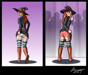 Commission: The Naughty Witch by Geknebelt