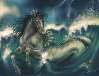 Sea horse by adanethiel