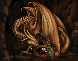 Golden dragon by adanethiel