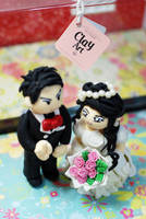 clay art wedding by eruphie