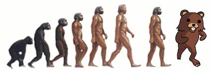 The evolution of man by Atsugai