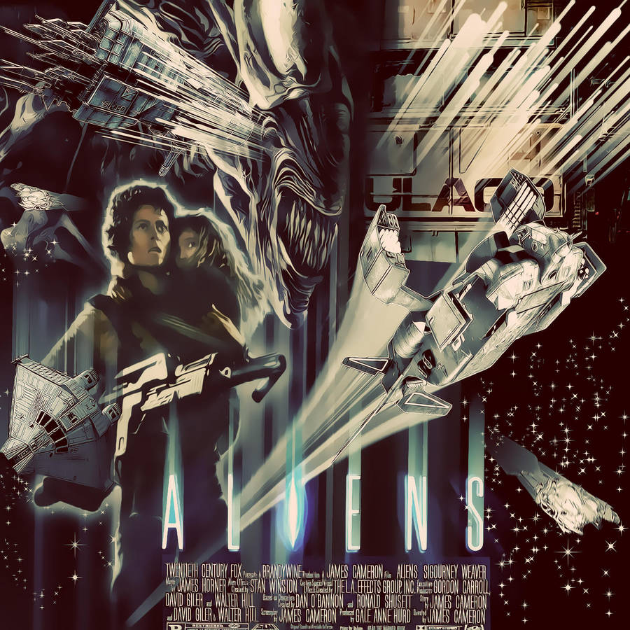 aliens vintage poster by R-Clifford