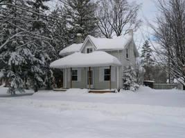 Winter Cottage II by Jezhawk-stock