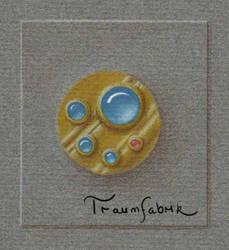 Golden brooch by Traum-Fabrik