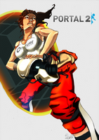 Chell Portal 2 by TaraGraphic