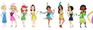 Disney Princess Flapper Girls by Gnuchi