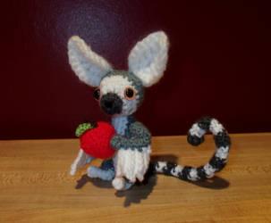 Winged Lemur Amigurumi by SilverTwilight05