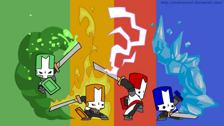 Castle Crashers - The Knights by LuckRunsOut