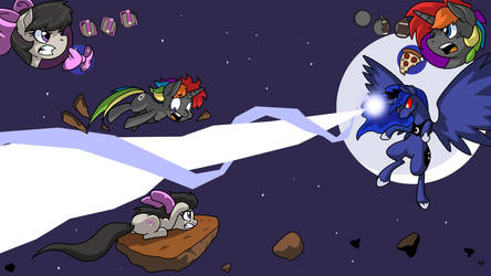 Aggie and Shino Vs Equestria, The Game by LateCustomer