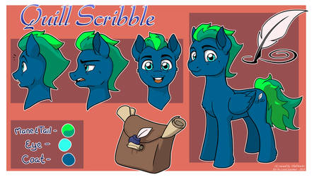 Quill Scribble Ref Sheet by LateCustomer