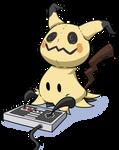 Mimikyu Playing NES by LateCustomer