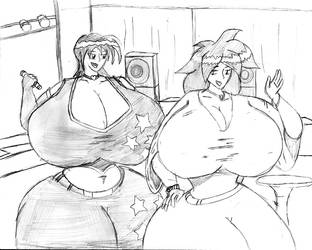 Penny and Saka: Dancing Girls by SakakitheNinjaGirl