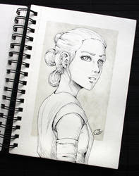 [Traditional] Rey by Eeveella