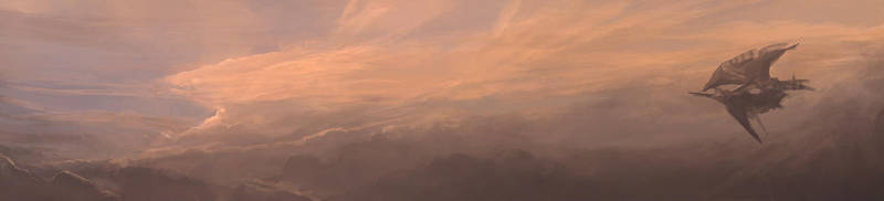 final fantasy IX airship by DavidCuriel