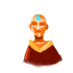 Aang Doodle by PoiButt