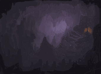 dark cave by Galvin-wolf
