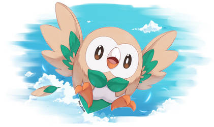 Rowlet by Merum-SB-BlueOlimar