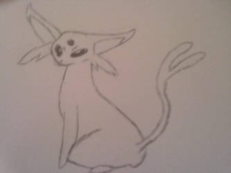 Pokemon Sketch: Espeon by AloofPassion