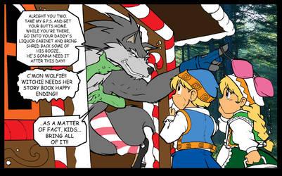 Shred saves Hanzel and Gretyl by ShoNuff44