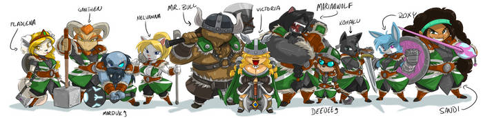 VICTORIA's VIKINGS LINE UP 9 by ShoNuff44