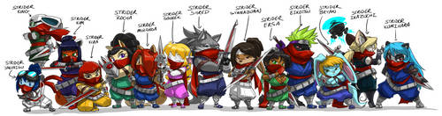 Strider Line Up 11 Fn by ShoNuff44