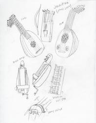 Stringed Instruments sketch dump by The-Albino-Axolotl