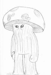 Plump helmet man by The-Albino-Axolotl
