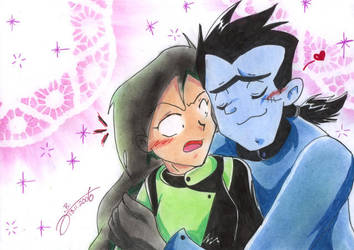 Drakken and Shego by JB-Pawstep
