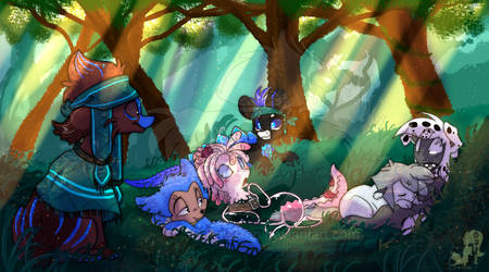 Resting in the Woods by JB-Pawstep