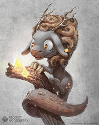 A cute fantasy dragon sheep by Deevad