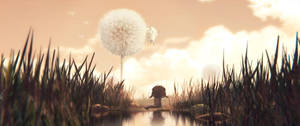 'Dandelion shot' , 3D paint-over by Deevad