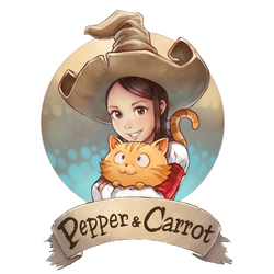 Pepper and Carrot logo by Deevad