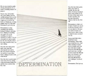 Determination with text by Seraphlyn