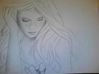 WIP Sad girl by Seraphlyn