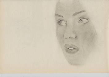 WIP face girl by Seraphlyn