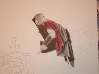 Ezio WIP by Seraphlyn
