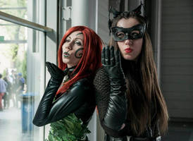 Poison Ivy new 52 and Catwoman cosplay by Ophi89