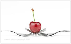 Cherry on forks by shatinn